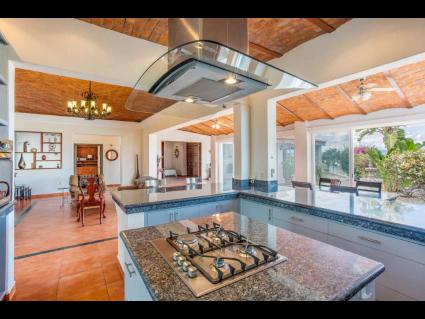 Granite counter island on kitchen